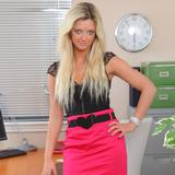 """""""Zuziana in tight pink pencil skirt revealing a gorgeous pink thong"""""""