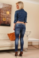 Victoria A Teases Her Way From A Full Denim Outfit - Picture 2