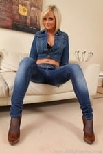 Victoria A Teases Her Way From A Full Denim Outfit - Picture 5
