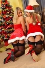 Jodie Gasson And Melissa D As Sexy Santas - Picture 7