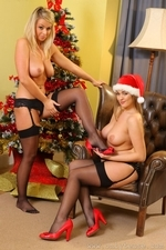 Jodie Gasson And Melissa D As Sexy Santas - Picture 14