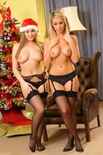Jodie Gasson And Melissa D As Sexy Santas - Picture 15