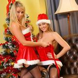 """Jodie Gasson & Melissa D as sexy Santa"