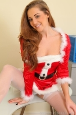 Daisy Watts Sexy Santas Secretary Xmas Hot Outfit Topless Lingerie Stockings - Picture 5