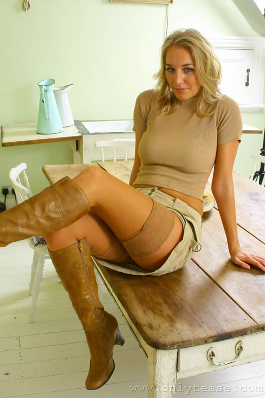 blonde boots boobs sex porn